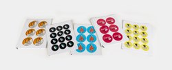 Adhesive Paper Multicolor Round Printed Stickers, For Advertising, Packaging Type: Packet