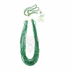Top Quality Emerald Fine Finishing Gemstone Beads Necklace