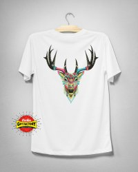 Printed White Mens Cotton T-Shirt