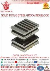 Gold Tool Steel Grooving Block