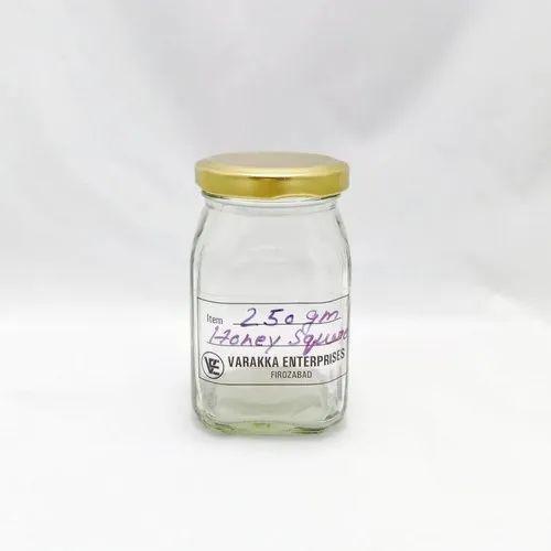 250 gm Honey Square Glass Jar
