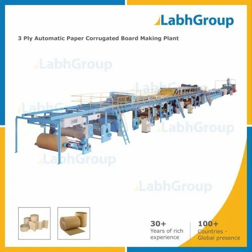 3 Ply Corrugated Paper Board Making Machine - Production Line