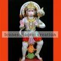 4.6 Feet Marble Hanuman Statues