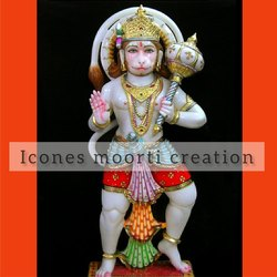 Colored Marble Hanuman Statues