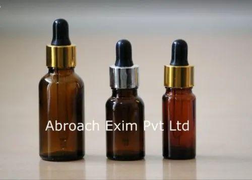 15 Ml Amber Glass Bottles With Dropper , Metallic Golden Cap
