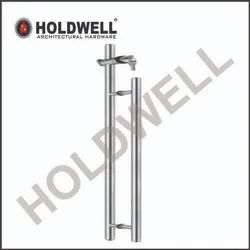 Holdwell Stainelss Steel Glass Door Handles With Locks