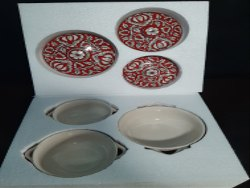 Thermocol Ceramic plate Packaging Box