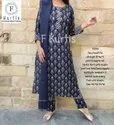 Party Wear 3/4th Sleeve Beautiful Straight Fit Kurti With Pant And Dupatta, Wash Care: Machine Wash