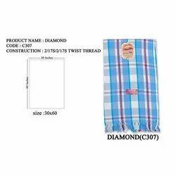 Diamond Cotton Check Towel, Size: 30x60 Inches