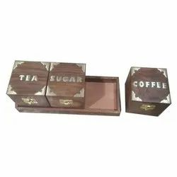 Brown Square Wooden Box, Size: 4*4*4 Inch