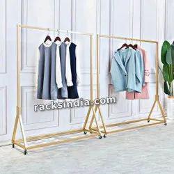 Golden Hanging Rolling Rack