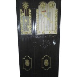 Black Mild Steel Safety Door, Size: 6 Feet