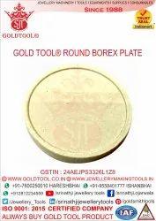 Gold Tool Jeweler Round Borex Plate