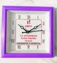 Quartz Red Promotional Wall Clock For Gifting, For Home, Size: 18 Cm X 18 Cm