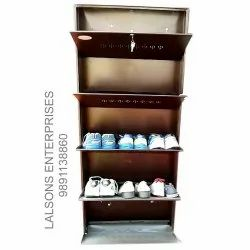 5.6 Feet SS Wall Mounted Shoe Rack