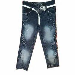 Regular Button Denim Ladies Jeans, Waist Size: 22x30