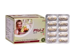 Carbonyl Iron, Folic Acid, Vitamin B12 And Zinc Capsules, 10 X 10 Capsule