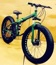 Hummer Green Fat Tyre  Foldable Cycle