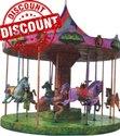 Carousel Amusement Ride Game - 10 Kids