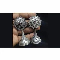 Premium Designer Antique Silver Finish Earrings