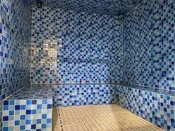 TILES Blue Steam Bath