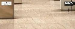 Beige Colour Porcelain Nitco Vitrified Floor Tiles, Thickness: 10-15 mm, Size: 2x2