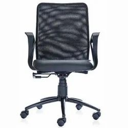 Black Office Back Support Chair
