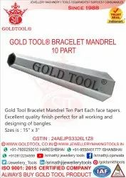 Gold Tool Bracelet Mandrel Ten Part