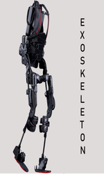 Binary Robotics Steel,Fiber Human Exoskeleton, Computerized