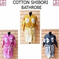 Cotton Tie & Dye Kimono Women Bathrobe