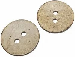 Brown 2 Hole Coconut Round Button, Packaging Type: Packet, Size/Dimension: 1 Inch