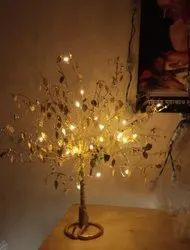 DECORATED GOLDEN TREE WITH STRING LIGHT