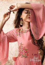 Vamika Sui Dhaga Vol 3 Georgette With Heavy Embroidery Work Gown Type Salwar Kameez Catalog