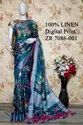 Halim Festive Wear Printed Silk Saree, 6.3 M (with Blouse Piece)