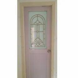 Polished Designer Solid Panel PVC Door, For Home, Exterior