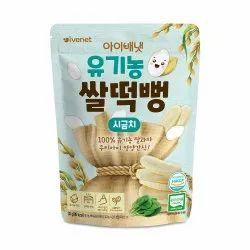 Ivenet Organic Rice Snack(spinach) 30g