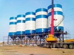Round Cement Mild Steel Storage Silo fabrication