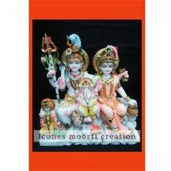 1.5 Feet Shiv Parvati Statue