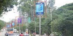 Mild Steel Outdoor Pole Advertising Services