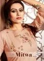 Manas Creation Mitwa Vol-2 Fancy Work Stylsih Straight Kurti Catalog