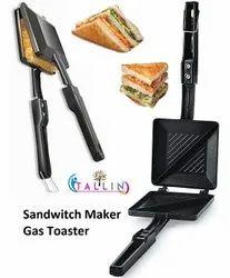 Tallin Tallin Special Non-stick Aluminium Mini Gas Toaster And Sandwich/burger/samosa Maker