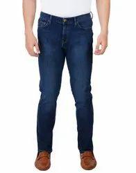 COMFORT Fit Blue Denim Pants, Size: Medium
