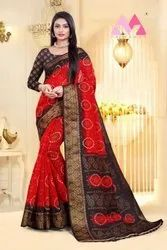 Fancy Cotton Linen Indian Wear Saree