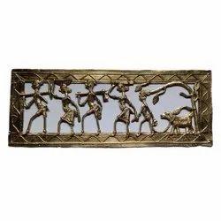 Golden Dokra Brass Frame, For Decoration, Size: 14 X 5 Inch