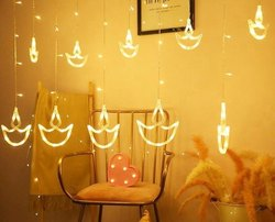 LED Warm Yellow Diwali Decorative Diya Light