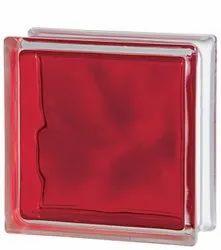 Brilly Red Glass Bricks
