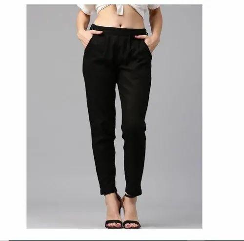 Ladies Cotton Slub Pants