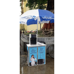 2 Fold PVC Promo Table With Umbrella, For Good