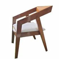 Brown Designer Garden Chair, Finish: Polished