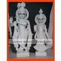 Standing Marble Radha Krishna Statue